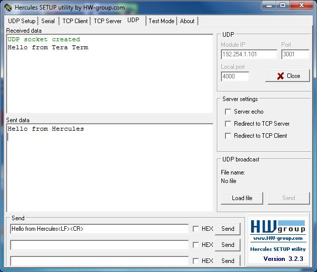 Xport-Pro Evolution: Using Modem Emulation Mode when using UDP